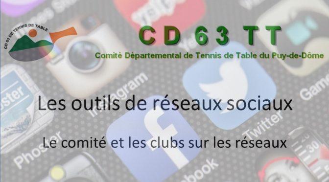 Le Comité et les clubs sur les outils de réseaux sociaux