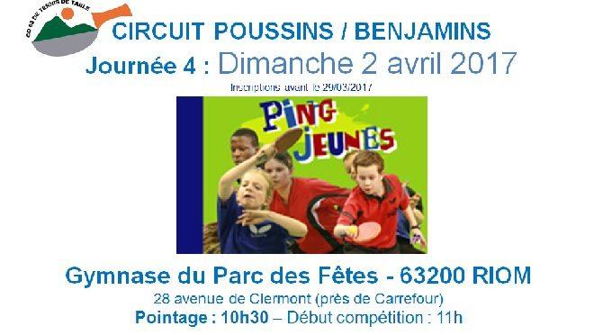 Circuit Poussins-Benjamins 4ème tour : résultats
