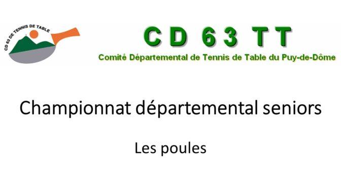 Championnat départemental par équipes seniors