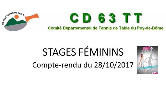 Stage Féminin 28-10