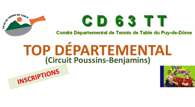 TOP DÉPARTEMENTAL 10-12-2017