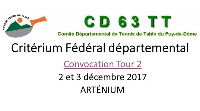 CRITÉRIUM FÉDÉRAL DÉPARTEMENTAL