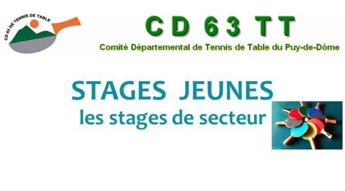 Stage secteur Peschadoires février 2019