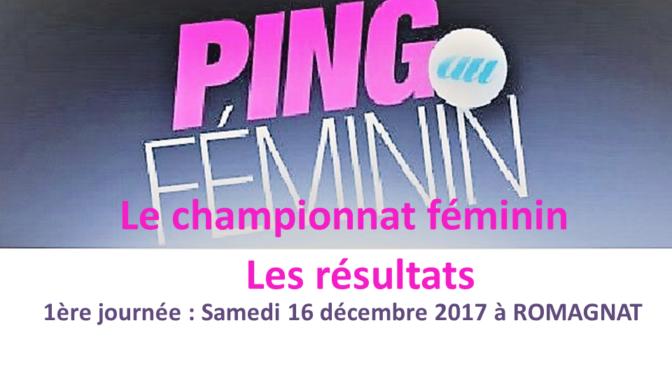 Résultats de la 1ère journée du championnat féminin 2017 – 2018