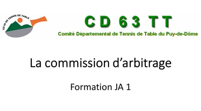 Formation Arbitrage le 08-09-2018