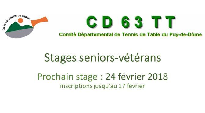 Stage Messieurs Seniors -1000 points