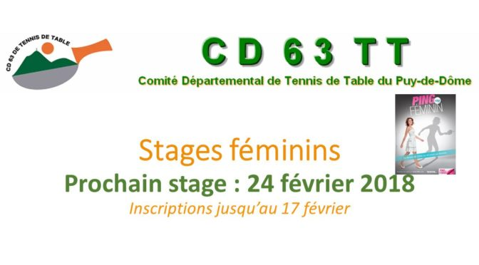 Stage féminin 24-02-2018