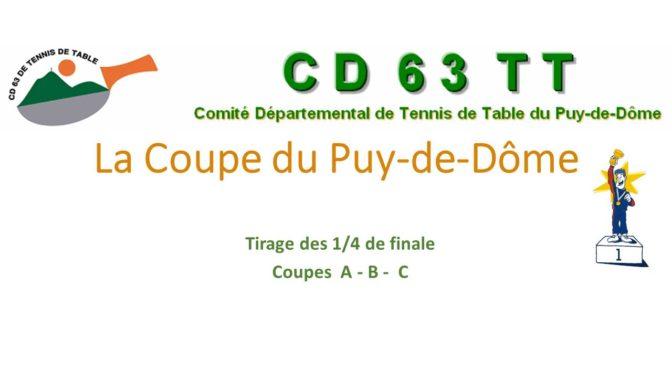 Coupe du Puy-de-Dôme – Tirage des 1/4 de finales