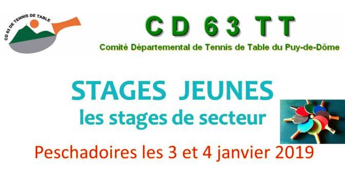Stage secteur PESCHADOIRES