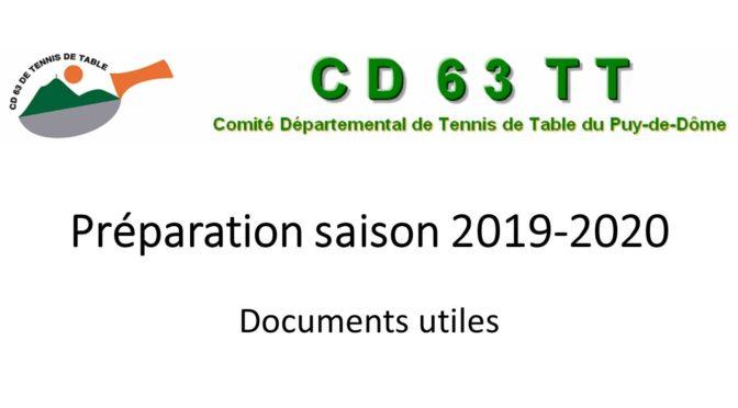 Préparation de la saison 2019 – 2020