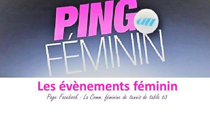 Evènements féminins à retenir