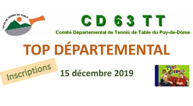 Top Départemental : 15 décembre 2019