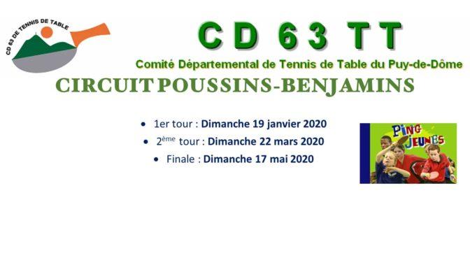 Circuit Poussins-Benjamins 1er Tour