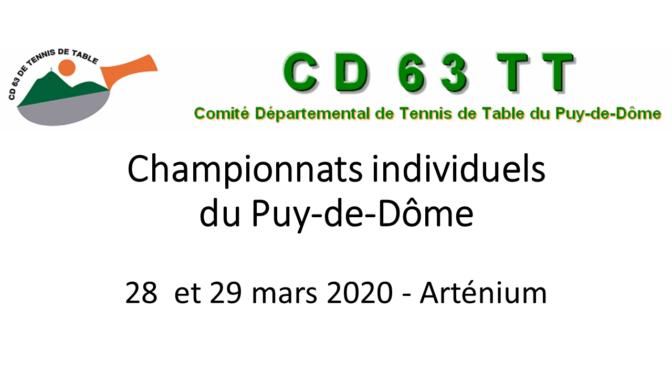 Championnats individuels départementaux du Puy-de-Dôme