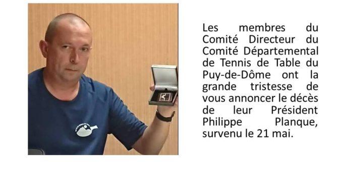 Adieu Philippe, notre président