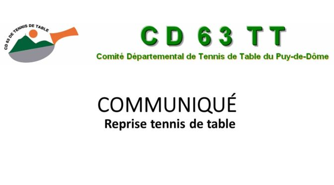 Reprise tennis de table