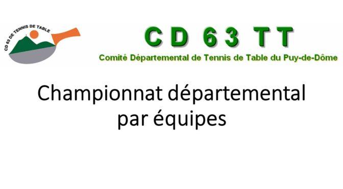 Championnat départemental par équipes