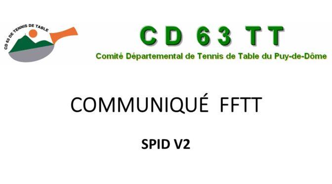 SPID V2 : les informations suite au déploiement