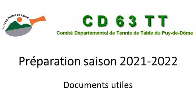 Préparation saison 2021-2022