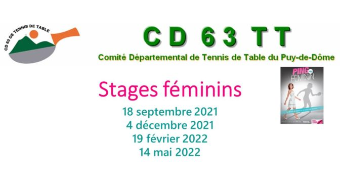 Stages Féminins