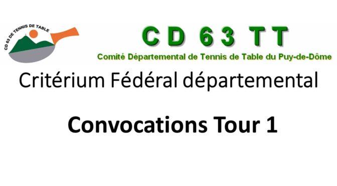 Critérium fédéral départemental 1er tour