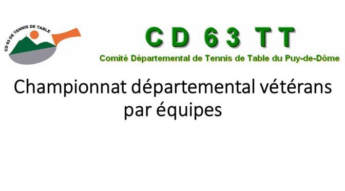 Championnat départemental vétérans